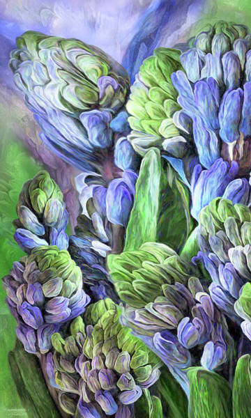 Mixed Media - Hyacinth Moods 2 by Carol Cavalaris
