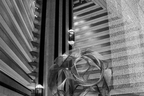 Photograph - Hyatt Regency Sf Atrium Bw by Bonnie Follett