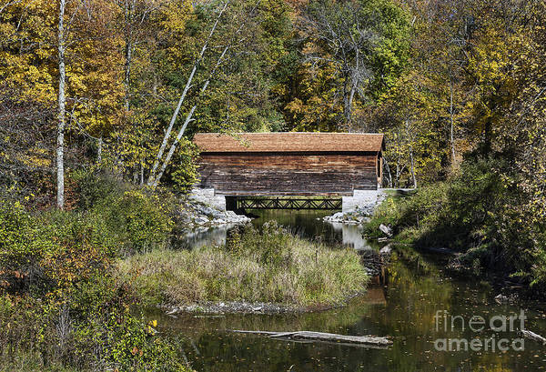 Wall Art - Photograph - Hyde Hall Covered Bridge by John Greim