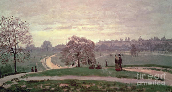 Stroll Painting - Hyde Park by Claude Monet
