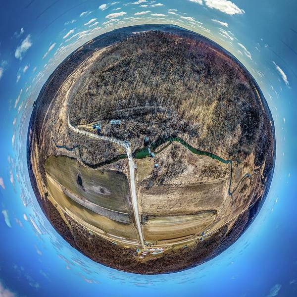 Photograph - Hyde's Mill High Altitude Little Planet by Randy Scherkenbach