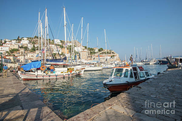 Photograph - Hydra Habour by Hannes Cmarits
