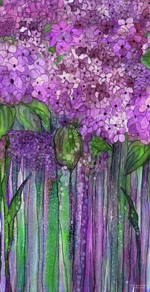 Mixed Media - Hydrangea Bloomies 2 - Pink by Carol Cavalaris