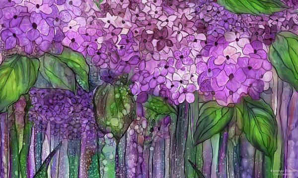 Mixed Media - Hydrangea Bloomies 3 - Pink by Carol Cavalaris