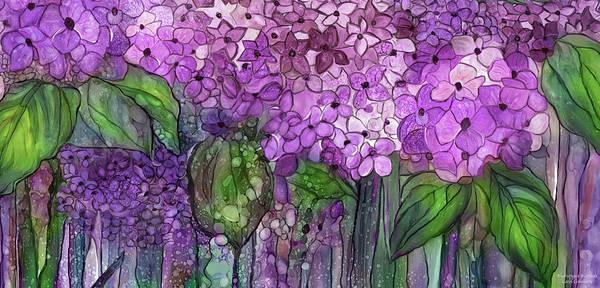 Mixed Media - Hydrangea Bloomies 4 - Pink by Carol Cavalaris
