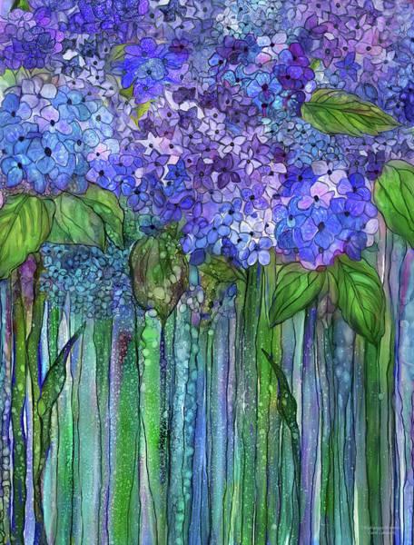 Mixed Media - Hydrangea Bloomies 1 - Blue by Carol Cavalaris