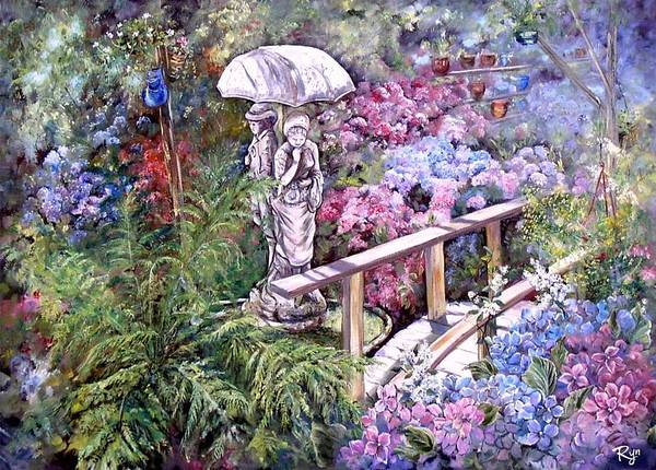 Painting - Hydrangea In The Formosa Gardens by Ryn Shell