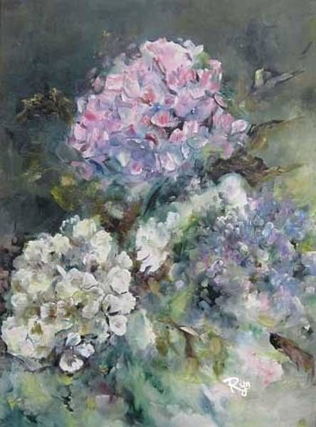 Painting - Hydrangea by Ryn Shell