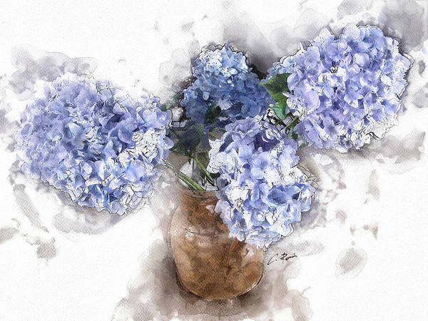 Digital Art - Hydrangeas by Charlie Roman