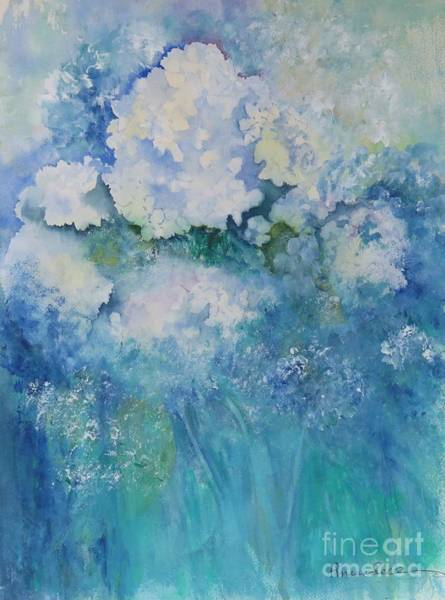 Wall Art - Painting - Hydrangeas In My Yard by Peggy Maunsell