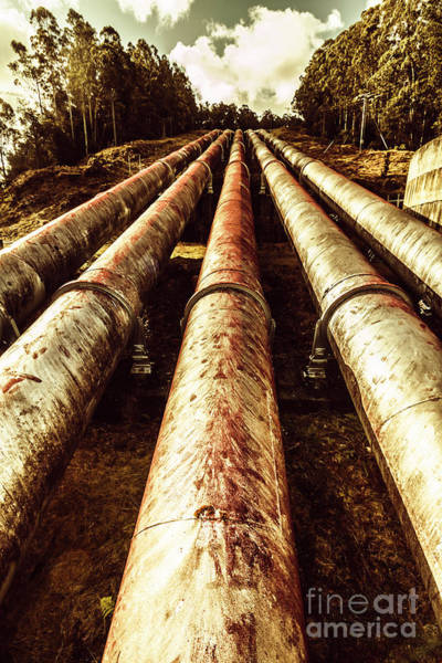 Steel Construction Wall Art - Photograph - Hydroelectric Pipeline by Jorgo Photography - Wall Art Gallery