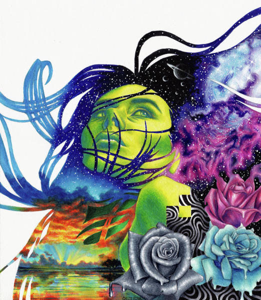 Wall Art - Drawing - Hydrogen by Callie Fink