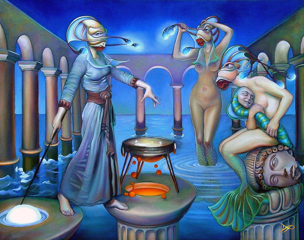 Spells Wall Art - Painting - Hydromeda's Kitchen by Patrick Anthony Pierson
