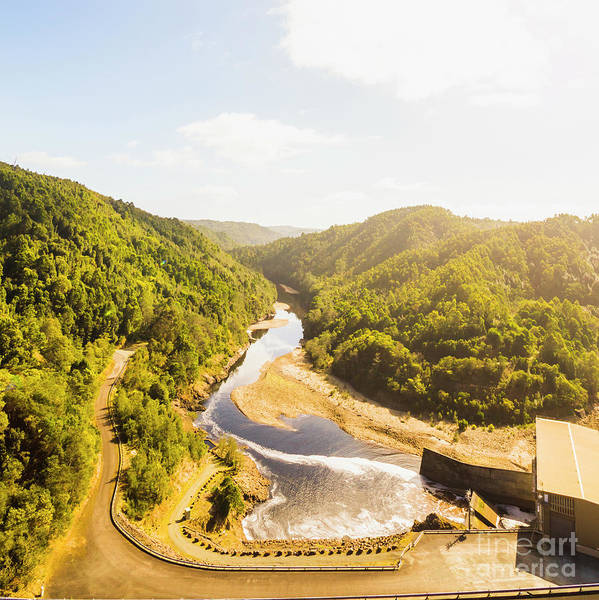 Power Station Wall Art - Photograph - Hydropower Valley River by Jorgo Photography - Wall Art Gallery