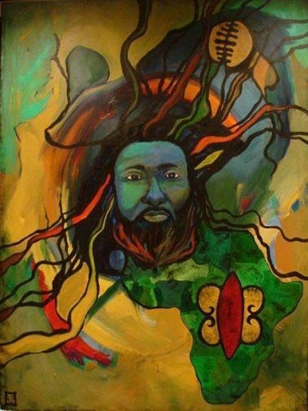 Ghana Painting - Hye Anhye Obuama    by Farin MEMA Greer