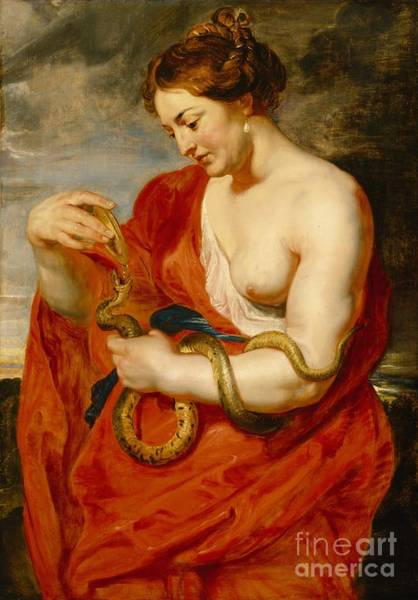 Wall Art - Painting - Hygeia - Goddess Of Health by Peter Paul Rubens