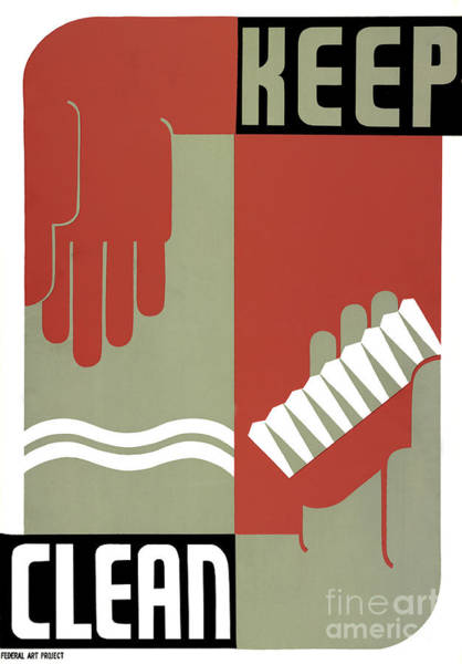 Photograph - Hygiene And Cleanliness Fap Poster 1939 by Science Source
