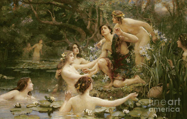 Hyla Wall Art - Painting - Hylas And The Water Nymphs by Henrietta Rae