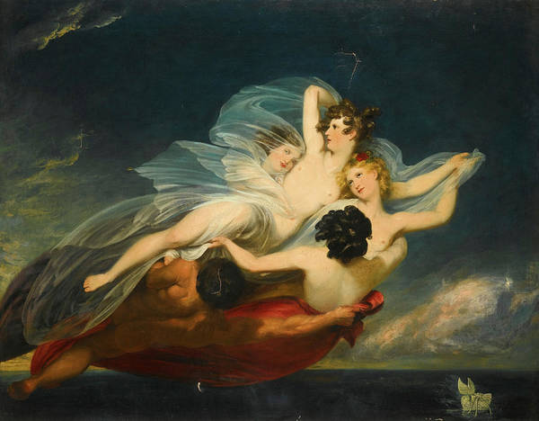 Hyla Wall Art - Painting - Hylas Carried Off By Nymphs by Henry Howard