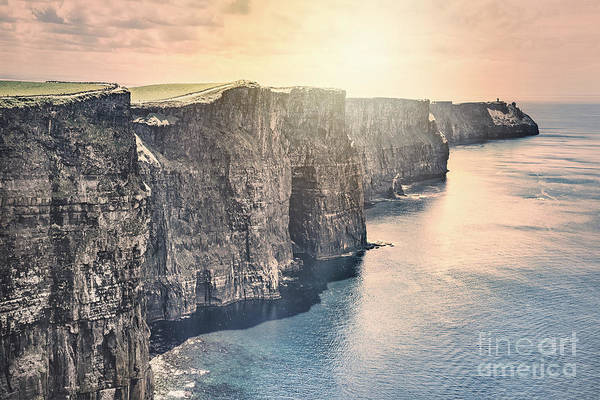 Moher Photograph - Hymn Of The Cliffs by Evelina Kremsdorf