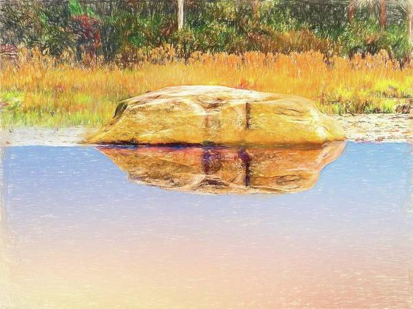 Digital Art - I Am A Rock,i Am A Stone by Rusty R Smith