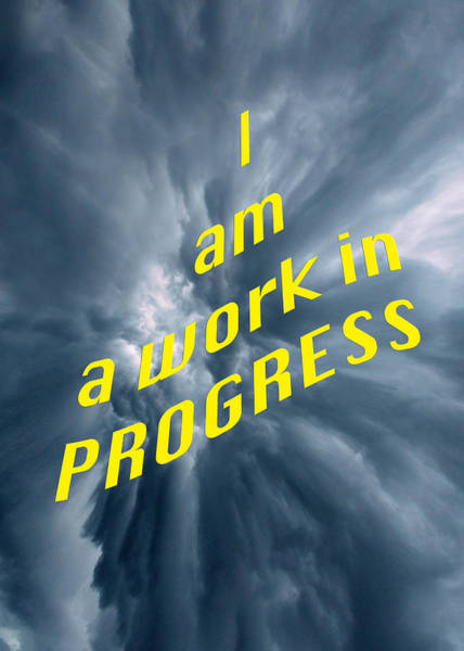 Photograph - I Am A Work In Progress 5490.02 by M K Miller