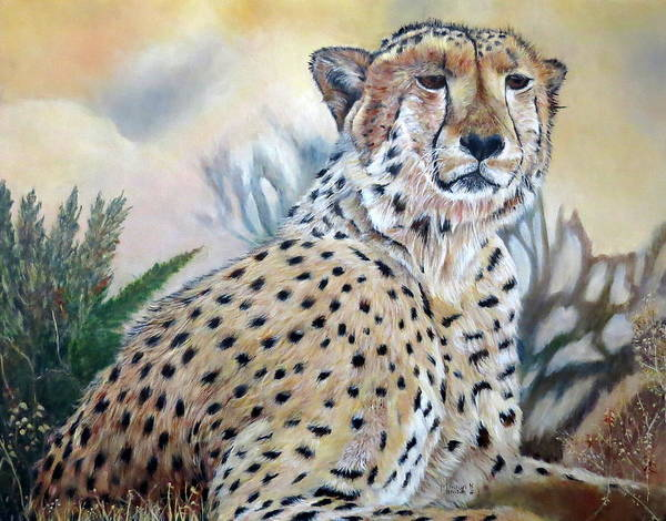 Painting - I Am Cheetah 2 by Marilyn  McNish