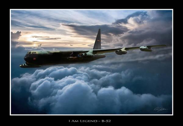 Cold War Digital Art - I Am Legend B-52 V2 by Peter Chilelli