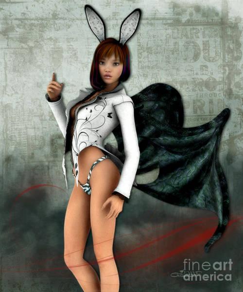 Digital Art - I Am Not A Bunny by Jutta Maria Pusl