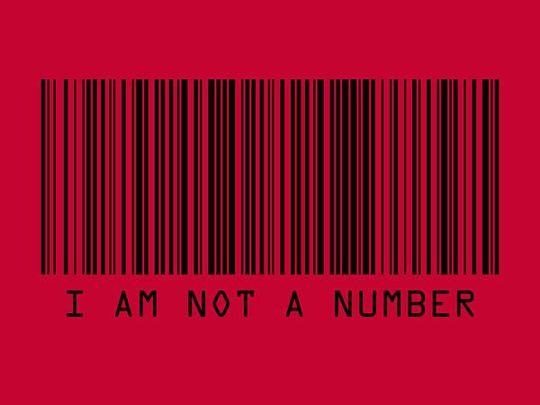 Anti Wall Art - Digital Art - I Am Not A Number by Michael Tompsett