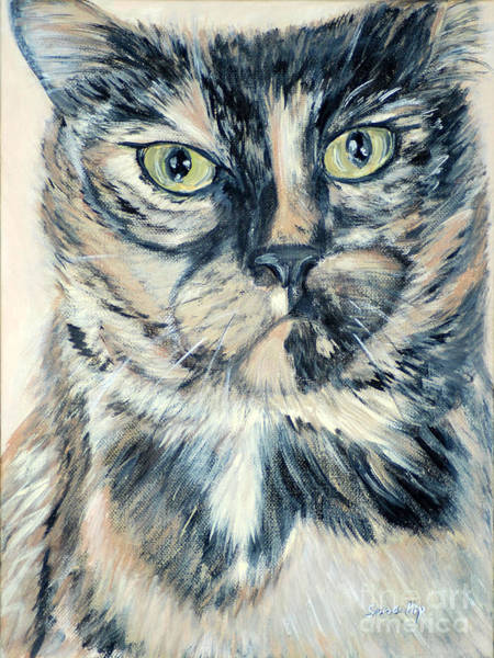 Painting - I Am Pearl, The Cutest Cat... Hello Pearl Collection 2015 by Oksana Semenchenko