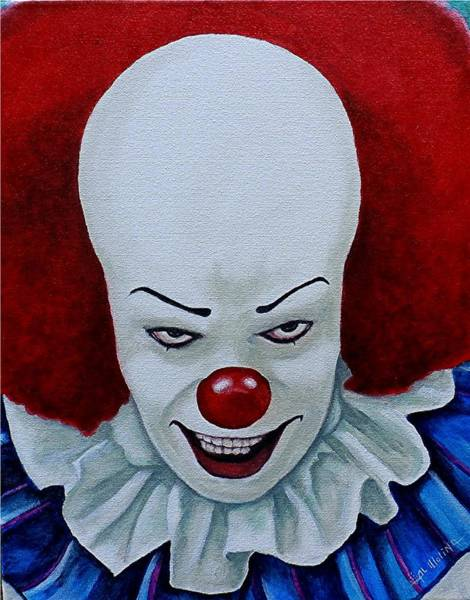 Wall Art - Painting - I Am Pennywise by Al  Molina