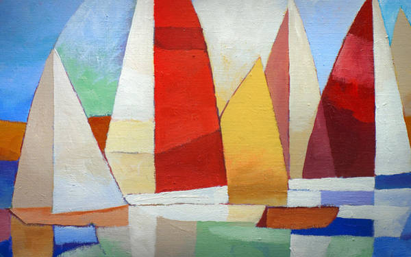 Wall Art - Painting - I Am Sailing X L by Lutz Baar