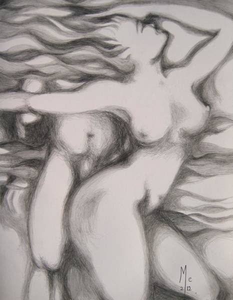 Drawing - I Am The Fire by Marat Essex