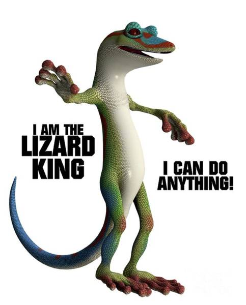 Lizards Digital Art - I Am The Lizard King by Esoterica Art Agency