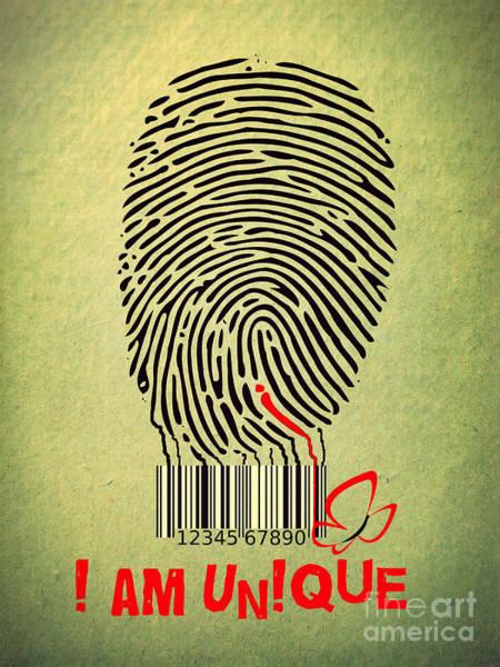Barcode Digital Art - I Am Unique by Binka Kirova