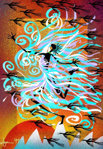 Painting - I Am Wind by Angela Treat Lyon