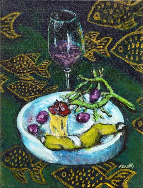 Painting - I Ate My Still Life by Dennis Tawes