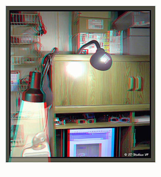Anaglyph Photograph - I C The Light - Use Red-cyan 3d Glasses by Brian Wallace