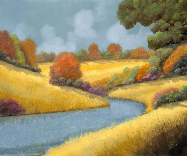 Thanksgiving Wall Art - Painting - I Campi Da Mietere by Guido Borelli