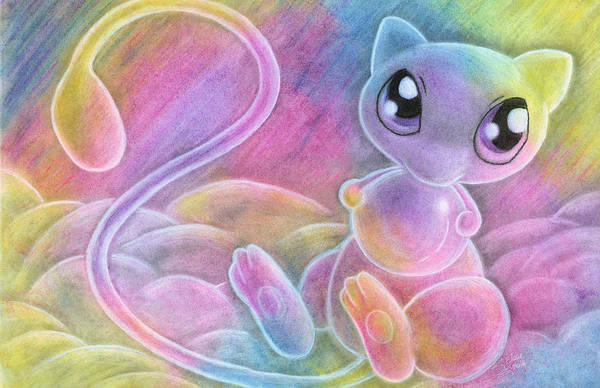 Pokemon Drawing - I Can Haz Bubble? by Stephanie Elaine Smith