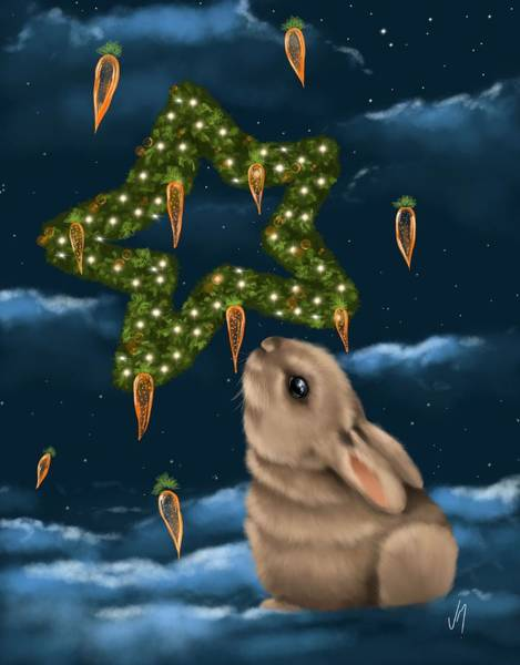 Carrot Painting - I Can Smell The Christmas In The Air by Veronica Minozzi
