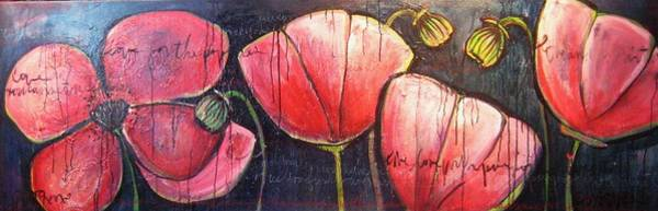 Painting - I Choose To Live A Life Of Purpose Poppies by Laurie Maves ART