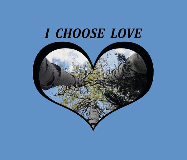 I Chose Love_heart Filled By Looking Up Aspens Art Print