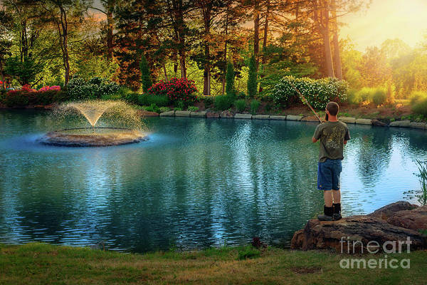 Honor Heights Park Photograph - I Could Be Fishing by Tamyra Ayles