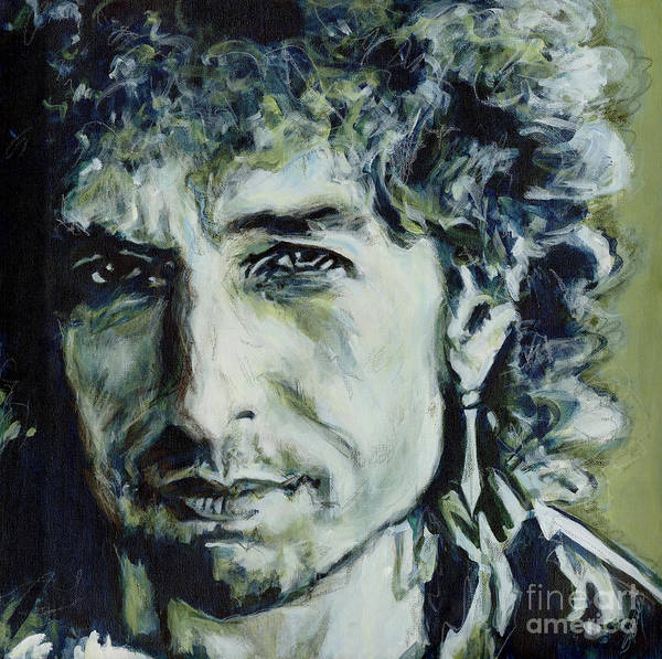 Painting - I Could Hold You For A Million Years. Bob Dylan by Tanya Filichkin