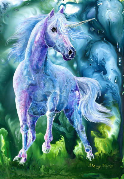 Painting - I Dream Of Unicorns by Sherry Shipley
