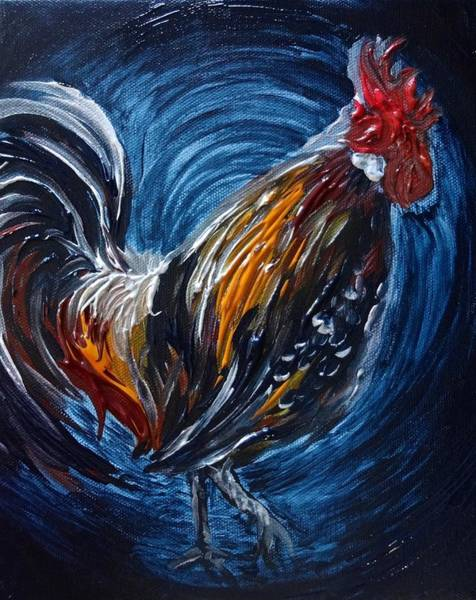 Painting - I Gayu Guam Rooster by Michelle Pier