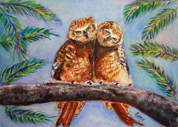 Romo Painting - I Give A Hoot by Robin Monroe