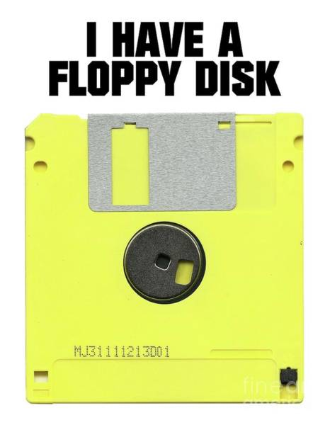 Feminist Digital Art - I Have A Floppy Disk by Esoterica Art Agency